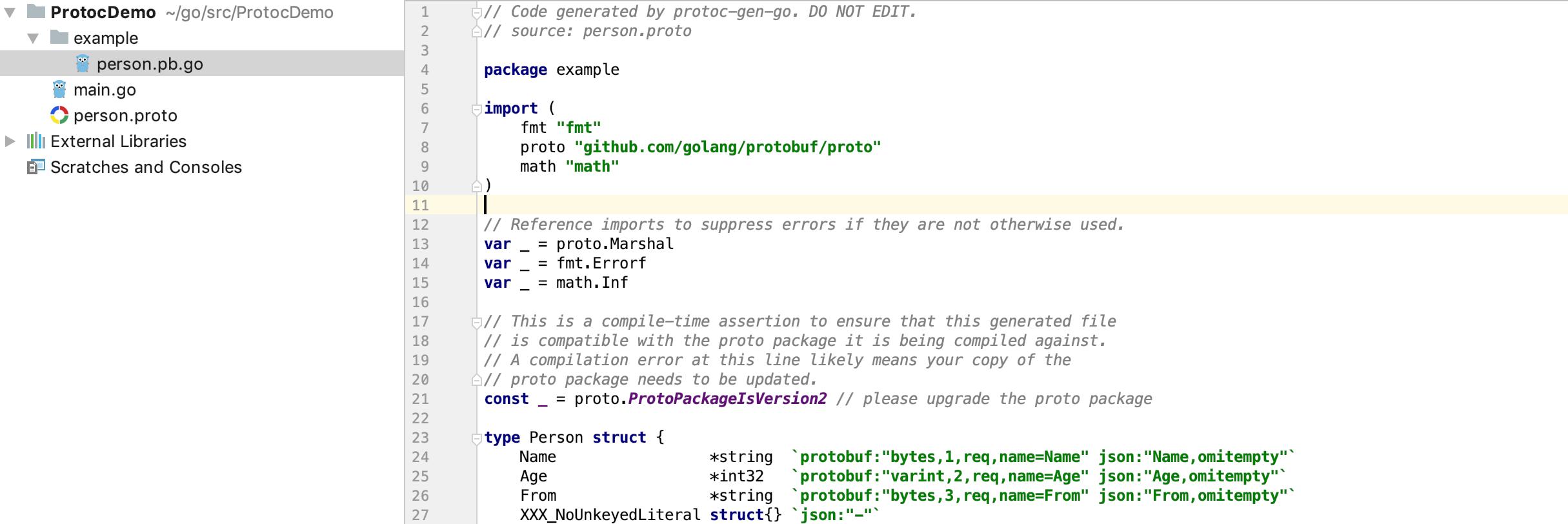 Proto生成Go语言