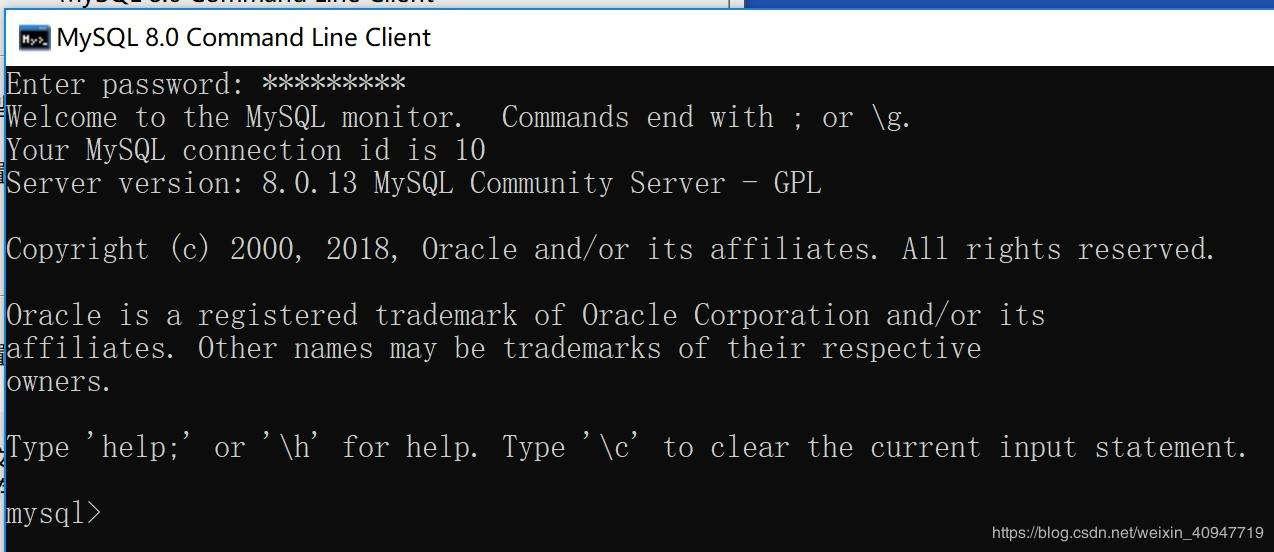 window中启动mysql服务